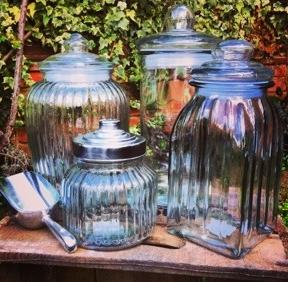 Sweetie jars and scoop