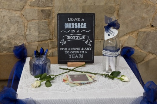 Alternative guestbook idea for wedding to hire