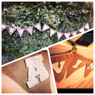 Personalised hessian bunting - £1 per letter
