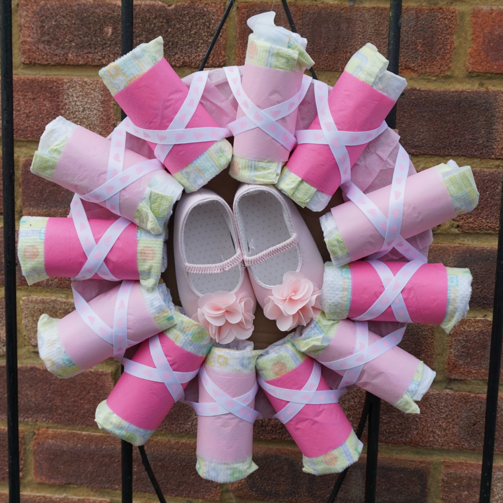 Nappy wreath
