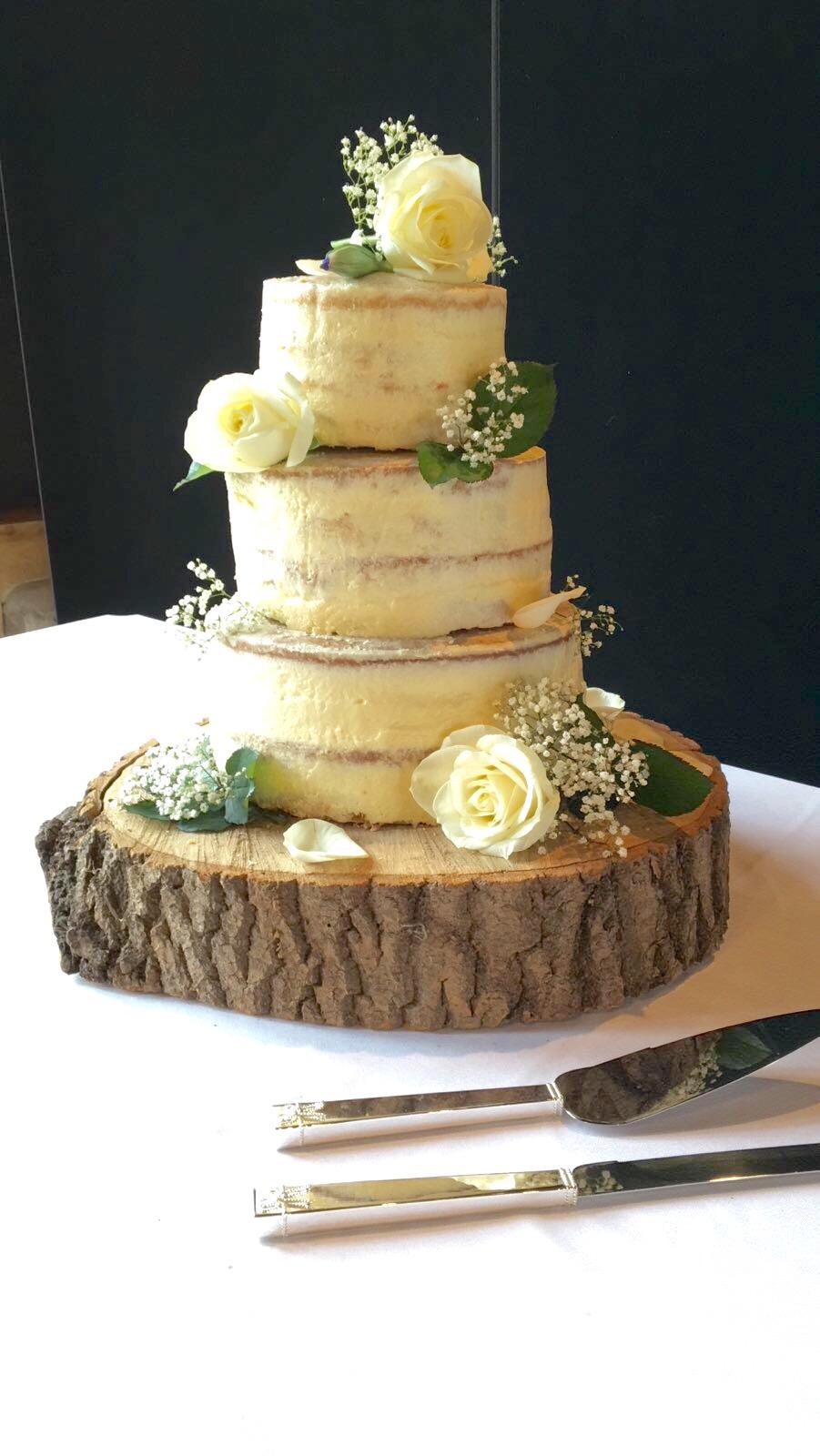 Log for wedding cake